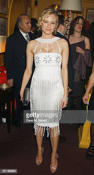 Diane Kruger attends the 'Artists Independent Networks' PreBAFTA Party at Annabel's co hosted by Charles Finch and Chanel on February 11 2005 in...