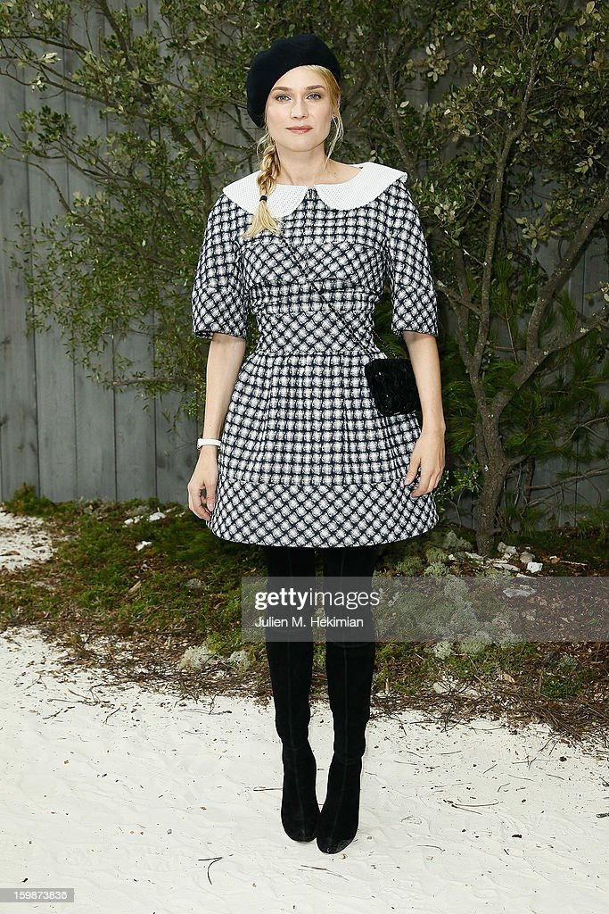 <a gi-track='captionPersonalityLinkClicked' href=/galleries/search?phrase=Diane+Kruger&family=editorial&specificpeople=202640 ng-click='$event.stopPropagation()'>Diane Kruger</a> attends the Chanel Spring/Summer 2013 Haute-Couture show as part of Paris Fashion Week at Grand Palais on January 22, 2013 in Paris, France.