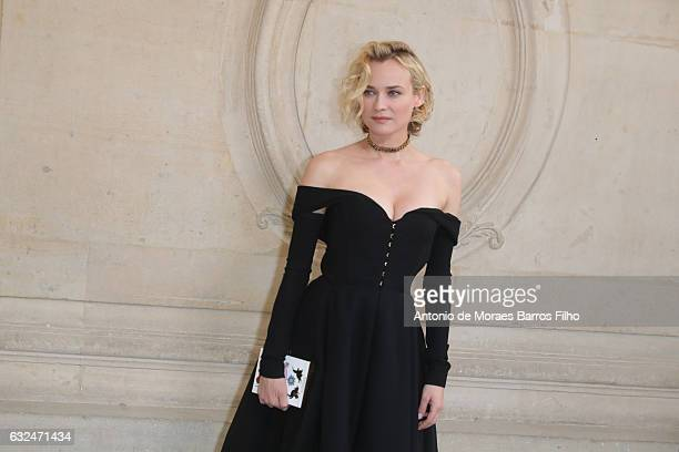 Diane Kruger attends the Christian Dior Haute Couture Spring Summer 2017 show as part of Paris Fashion Week on January 23 2017 in Paris France