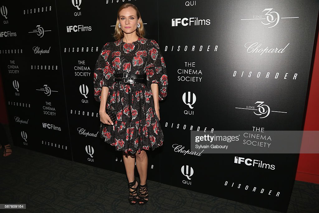 Diane Kruger attends The Cinema Society Chopard with Line 39 and Qui Host a Screening of IFC Films' 'Disorder' at Landmark Sunshine Cinema on August...