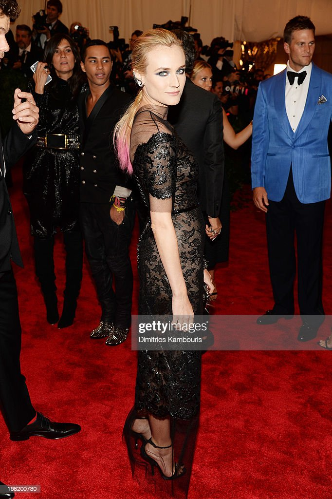 Diane Kruger attends the Costume Institute Gala for the 'PUNK: Chaos to Couture' exhibition at the Metropolitan Museum of Art on May 6, 2013 in New York City.