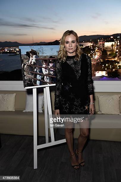 Diane Kruger attends the Event SKY with JaegerLeCoultre during the 68th annual Cannes Film Festival on May 18 2015 in Cannes France