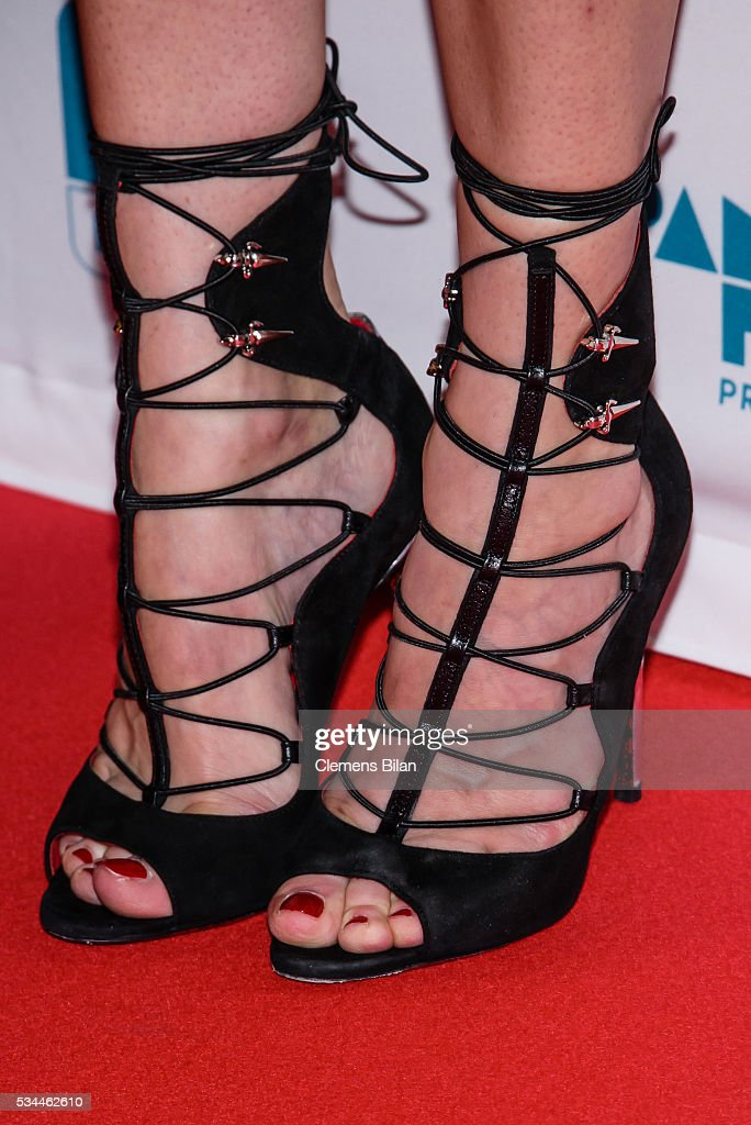Diane Kruger (shoe detail) attends the German premiere of the film 'Sky - Der Himmel in mir' at Zoo Palast on May 26, 2016 in Berlin, Germany.
