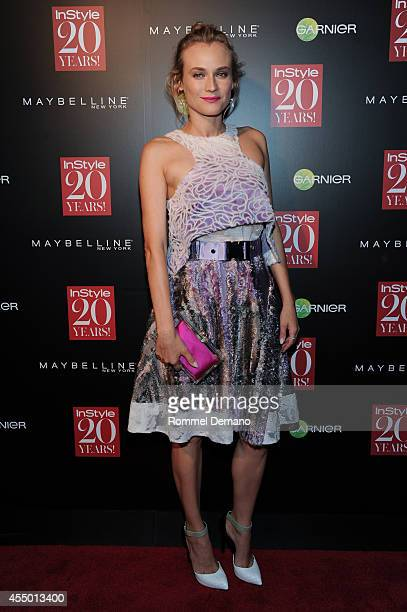 Diane Kruger attends the Instyle Hosts 20th Anniversary Party at Diamond Horseshoe at the Paramount Hotel on September 8 2014 in New York City