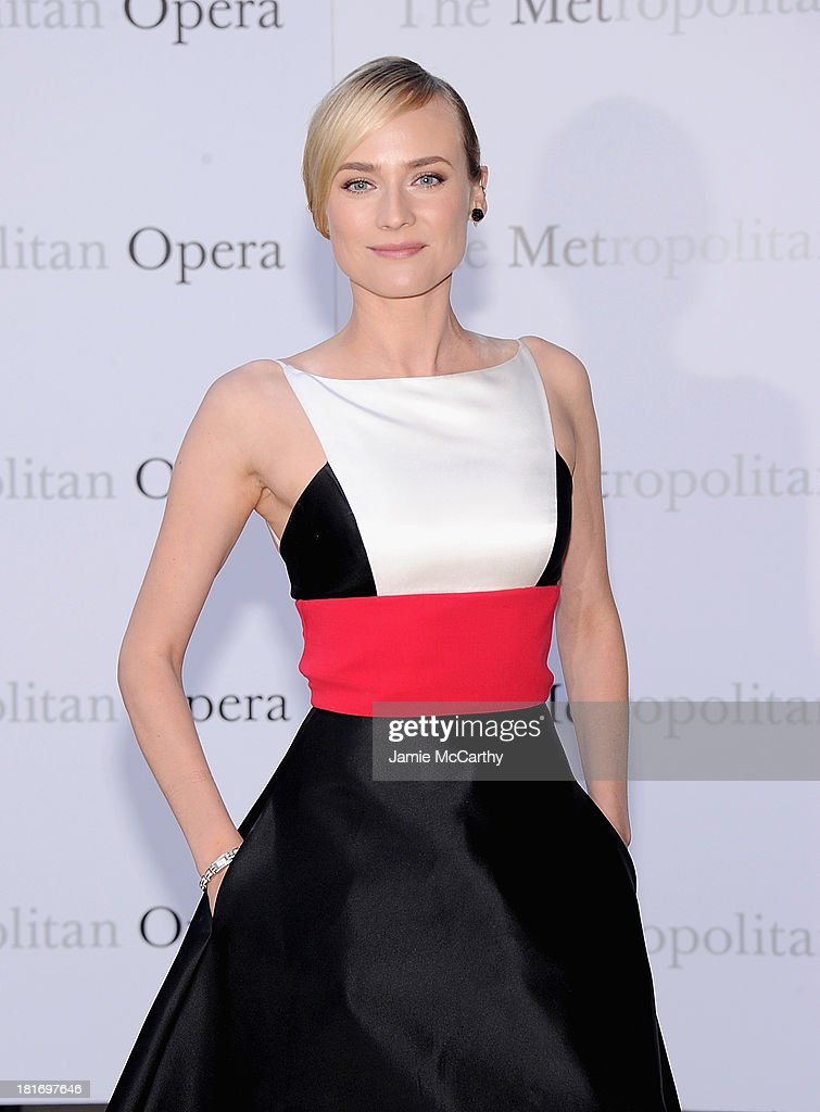 Diane Kruger attends the Metropolitan Opera Season Opening Production Of 'Eugene Onegin' at The Metropolitan Opera House on September 23, 2013 in New York City.