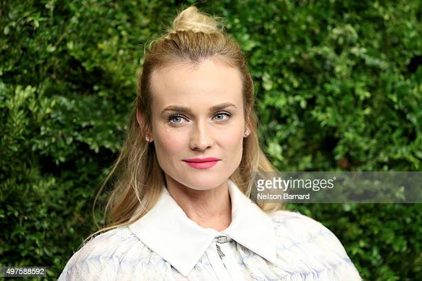 Diane Kruger attends the Museum of Modern Art's 8th Annual Film Benefit Honoring Cate Blanchett at the Museum of Modern Art on November 17 2015 in...