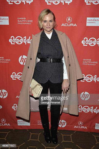 Diane Kruger attends the premiere of 'The Better Angels' at Prospect Square during the 2014 Sundance Film Festival on January 18 2014 in Park City...