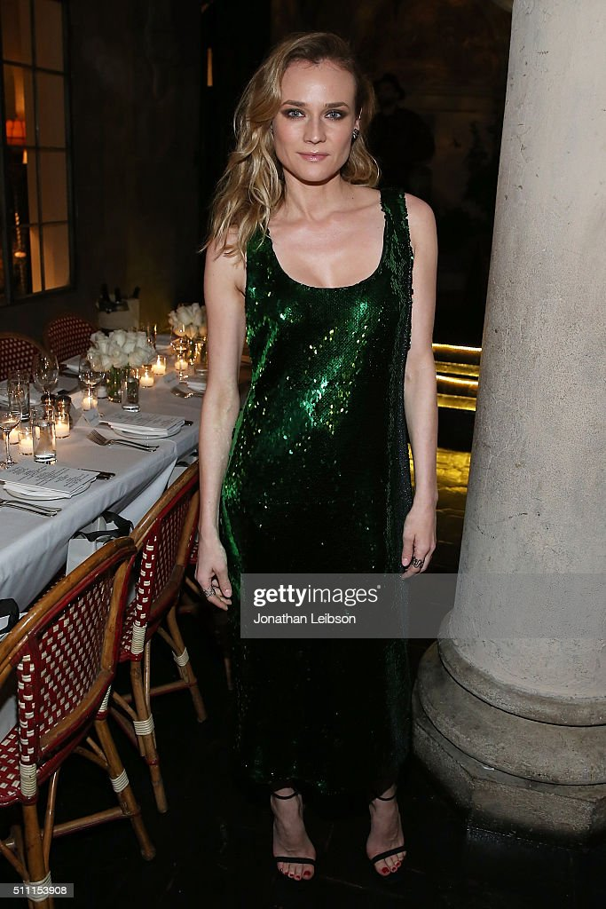 <a gi-track='captionPersonalityLinkClicked' href=/galleries/search?phrase=Diane+Kruger&family=editorial&specificpeople=202640 ng-click='$event.stopPropagation()'>Diane Kruger</a> attends the REPOSSI Los Angeles Dinner at Chateau Marmont on February 17, 2016 in Los Angeles, California.