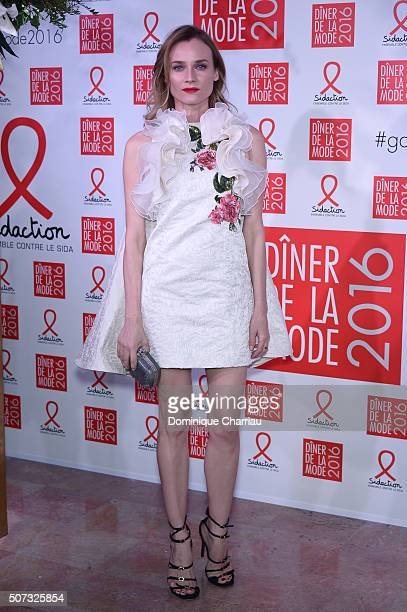 Diane Kruger attends the Sidaction Gala Dinner 2016 as part of Paris Fashion Week on January 28 2016 in Paris France