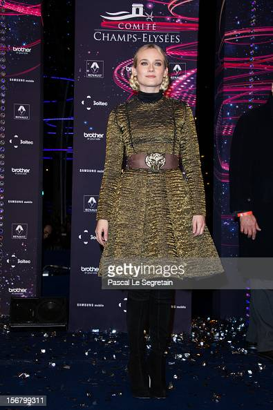 Diane Kruger attends the switching on of the Christmas lights along the Champs Elysees on November 21 2012 in Paris France