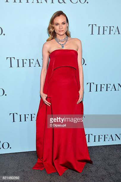 Diane Kruger attends the Tiffany Co Blue Book Gala at The Cunard Building on April 15 2016 in New York City