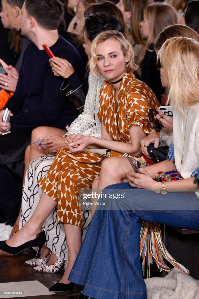 Diane Kruger attends the Tory Burch FW17 Show during New York Fashion Week at at The Whitney Museum of American Art on February 14, 2017 in New York City.