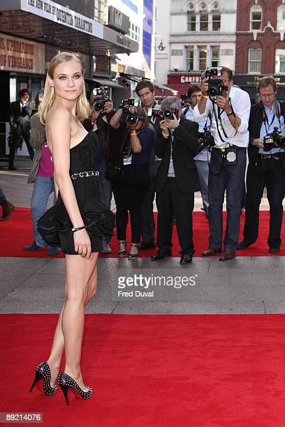 Diane Kruger attends the UK Premiere of 'Inglourious Basterds' at Odeon Leicester Square on July 23 2009 in London England