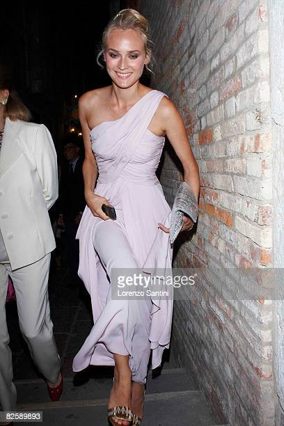 Diane Kruger attends the 'Valentino The Last Emperor' party during the 65th Venice Film Festival August 28 2008 in Venice Italy