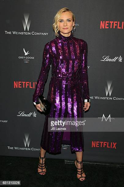 Diane Kruger attends The Weinstein Company and Netflix Golden Globe Party presented with FIJI Water Grey Goose Vodka Lindt Chocolate and Moroccan Oil...