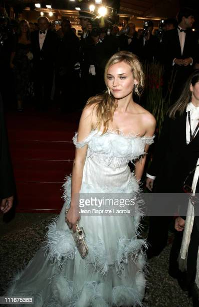 Diane Kruger during 2004 Cannes Film Festival 'Troy' Premiere Departures at Palais Du Festival in Cannes France