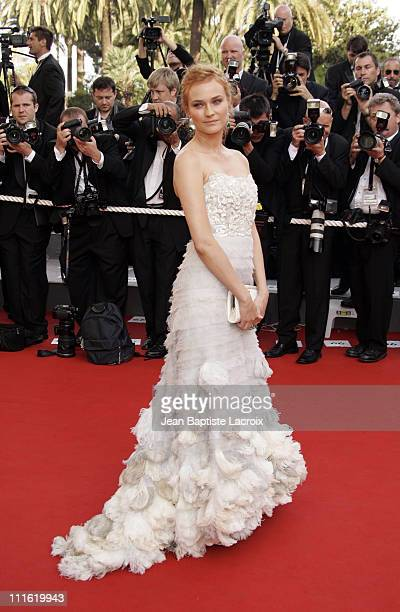 Diane Kruger during 2006 Cannes Film Festival Palme D'Or Arrivals at Palais des Festivals in Cannes France