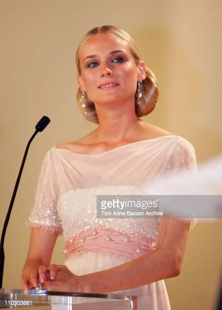 Diane Kruger during 2007 Cannes Film Festival Opening Night Gala Inside at Palais des Festivals in Cannes France