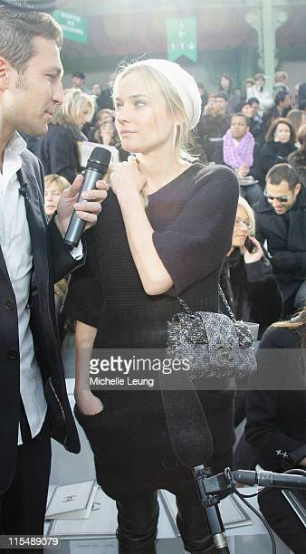 Diane Kruger during Paris Fashion Week Haute Couture Spring/Summer 2007 Chanel Front Row in Paris France