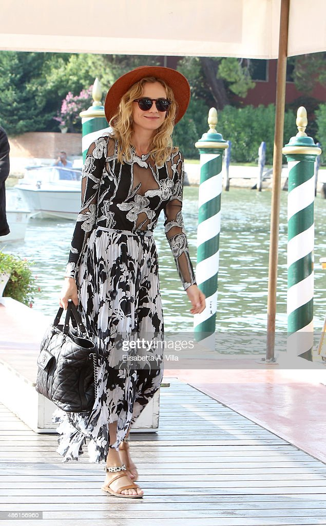 <a gi-track='captionPersonalityLinkClicked' href=/galleries/search?phrase=Diane+Kruger&family=editorial&specificpeople=202640 ng-click='$event.stopPropagation()'>Diane Kruger</a> is seen arriving at the Excelsior Hotel on September 1, 2015 in Venice, Italy.