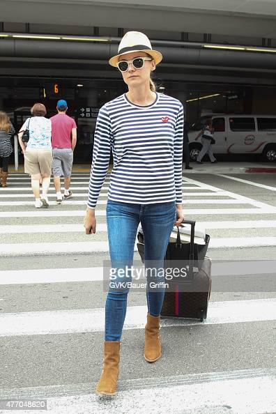 Diane Kruger is seen at LAX on June 13 2015 in Los Angeles California