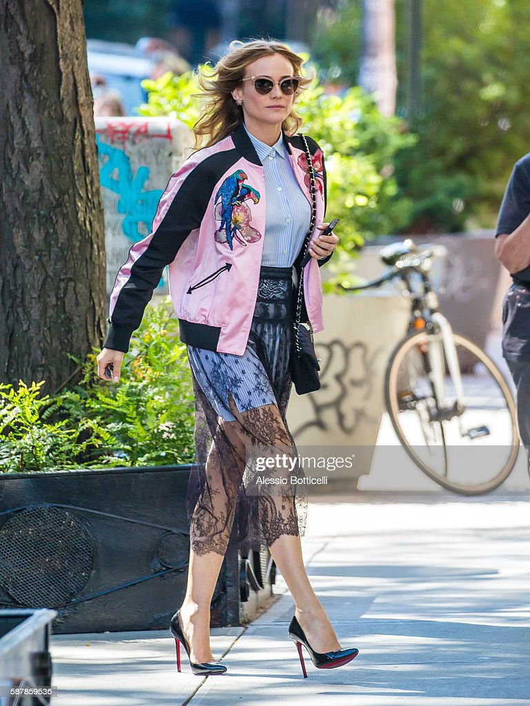 Diane Kruger is seen in East Village on August 9 2016 in New York City