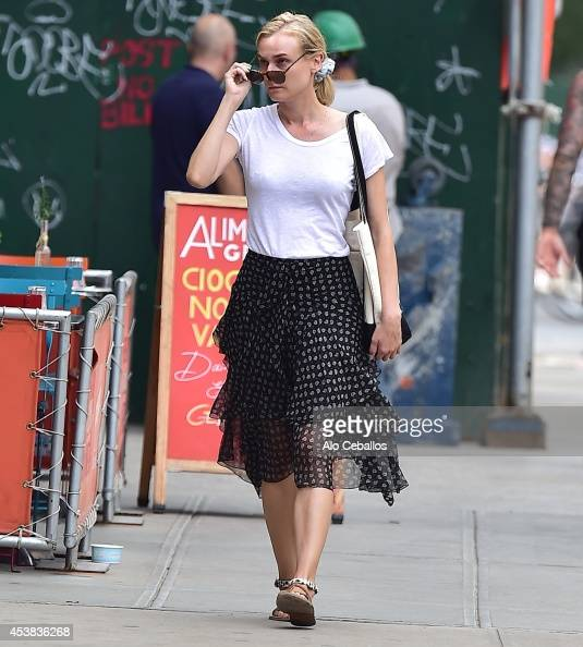 Diane Kruger is seen in Soho on August 19 2014 in New York City
