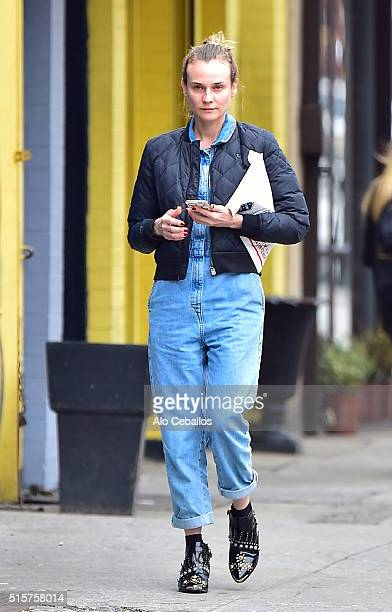 Diane Kruger is seen in Soho on March 15 2016 in New York City