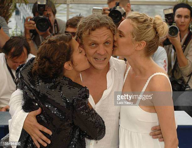 Diane Kruger Marc Labreche and Emma De Caunes during 2007 Cannes Film Festival 'l'Age des Tenebres' Photocall Departures at Palais des Festivals in...