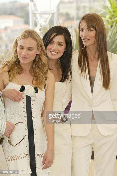 Diane Kruger Rose Byrne and Saffron Burrows during 2004 Cannes Film Festival 'Troy' Photocall at Palais Du Festival in Cannes France
