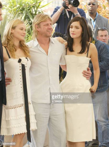 Diane Kruger Sean Bean and Rose Byrne during 2004 Cannes Film Festival 'Troy' Photocall at Palais Du Festival in Cannes France