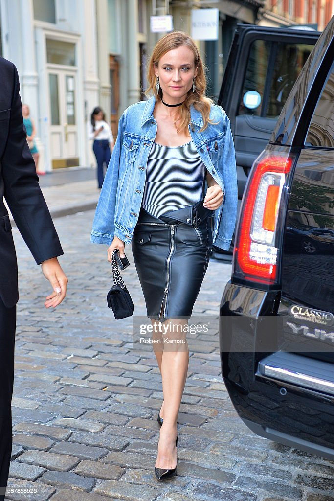 Diane Kruger seen in SoHo on August 9 2016 in New York City