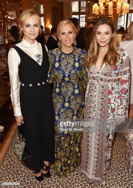 Diane Kruger Tory Burch and Elizabeth Olsen attends the Tory Burch Regent Street opening on May 22 2017 in London England