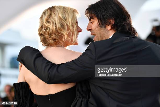 Diane Kruger winner of the award for best actress for her part in the movie 'In The Fade' and director Fatih Akin attend the Palme D'Or winner...