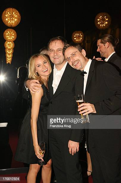 Diane Kruger with Christian Carion And Benjamin Hermann After The 'Merry Christmas' Premiere In The Comic Opera in Berlin
