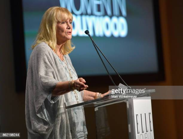 Diane Ladd speaks onstage at ELLE's 24th Annual Women in Hollywood Celebration presented by L'Oreal Paris Real Is Rare Real Is A Diamond and CALVIN...