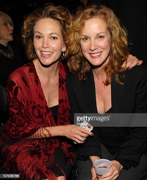 Diane Lane and Elizabeth Perkins during Barbra Streisand in Concert at the Staples Center Backstage and Audience at Staples Center in Los Angeles...