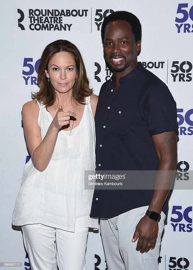 Diane Lane and Harold Perrineau attend 'The Cherry Orchard' Cast Photo Call on August 16 2016 in New York City