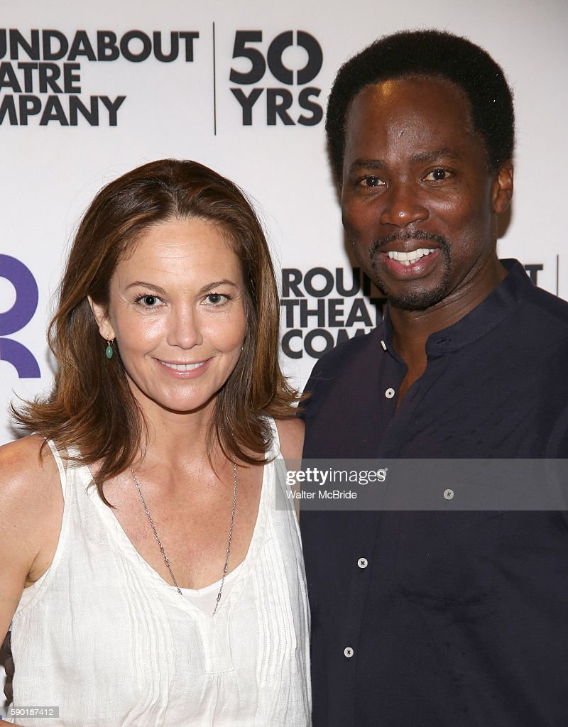 Diane Lane and Harold Perrineau attend the Roundabout Theatre Company production of 'The Cherry Orchard' Cast Photo Call on August 16 2016 in New...