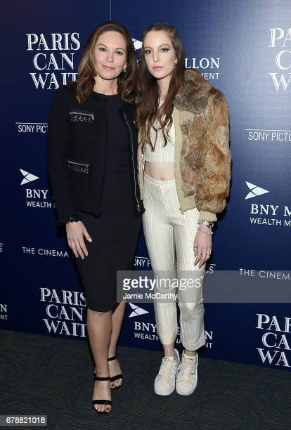 Diane Lane and her daughter Eleanor Lambert attend The Cinema Society Hosts A Screening Of Sony Pictures Classics' 'Paris Can Wait' at Landmark...