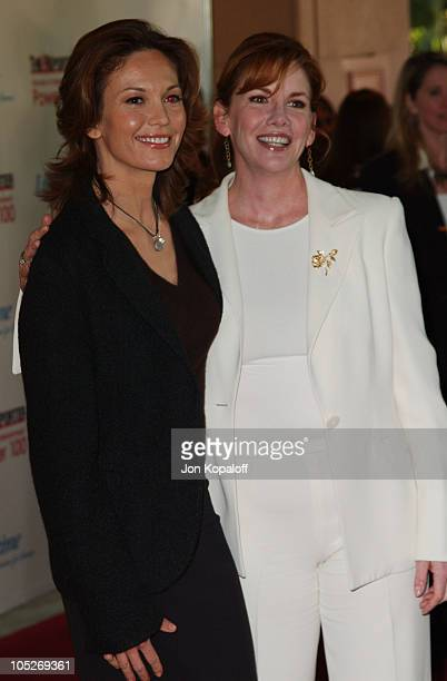 Diane Lane and Melissa Gilbert during Women In Entertainment Power 100 Breakfast at The Beverly Hills Hotel in Beverly Hills California United States
