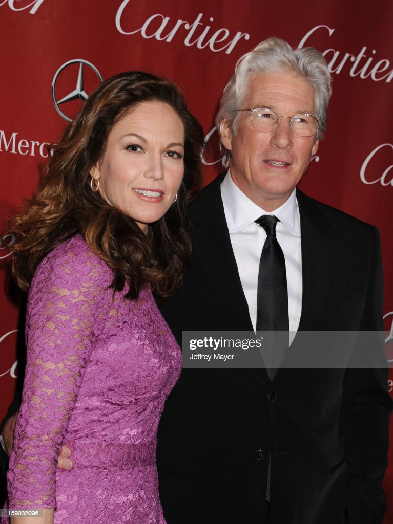 Diane Lane and Richard Gere arrive at the 24th Annual Palm Springs International Film Festival - Awards Gala at Palm Springs Convention Center on January 5, 2013 in Palm Springs, California.