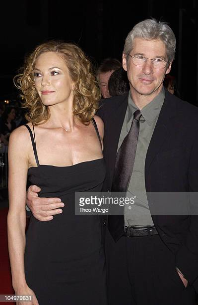 Diane Lane and Richard Gere during 'Unfaithful' New York Premiere at Ziegfeld Theatre in New York City New York United States