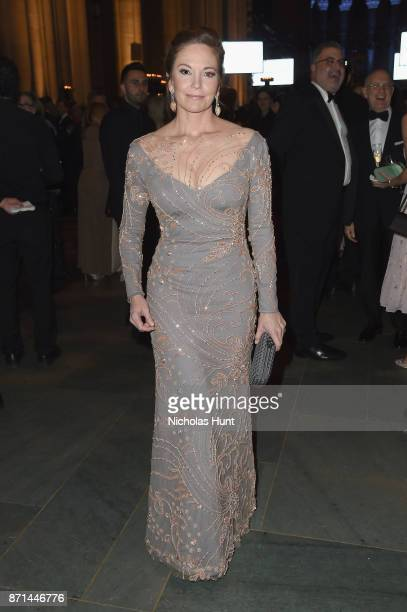 Diane Lane attends Elton John AIDS Foundation 25th Year And Honors Founder Sir Elton John During New York Fall Gala at Cathedral of St John the...