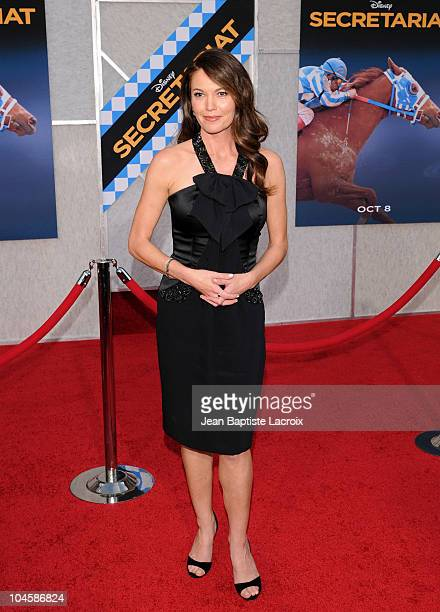 Diane Lane attends the 'Secretariat' film premiere at the El Capitan Theatre on September 30 2010 in Hollywood California