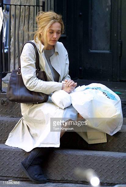 Diane Lane during On The Set of 'Unfaithful' at New York City in New York City New York United States