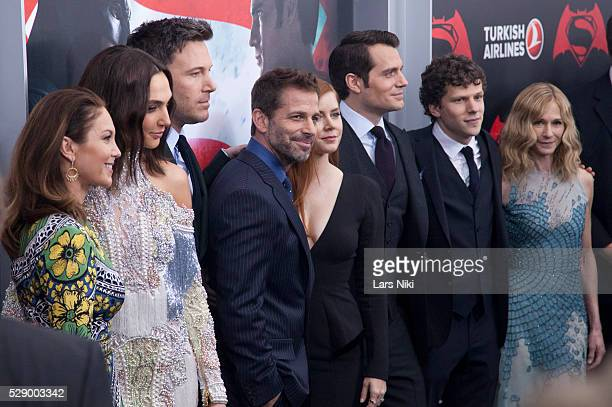 Diane Lane Gal Gadot Ben Affleck Zack Snyder Amy Adams Henry Cavill Jesse Eisenberg and Holly Hunter attend the 'Batman V Superman Dawn Of Justice'...