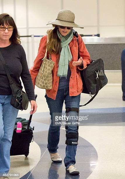 Diane Lane is seen at Los Angeles International Airport on July 28 2013 in Los Angeles California