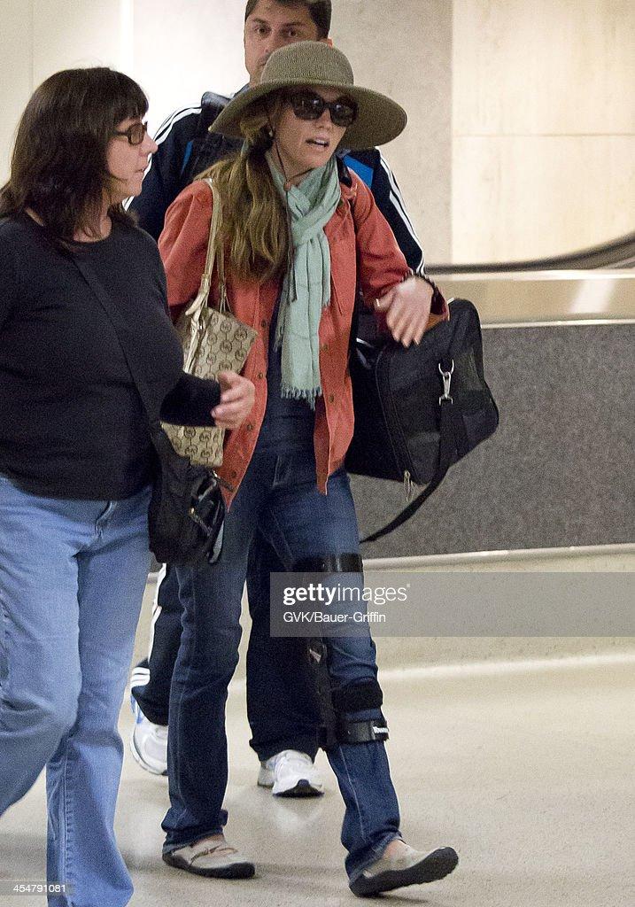 Diane Lane is seen at Los Angeles International Airport on July 28 2013 in Los Angeles California