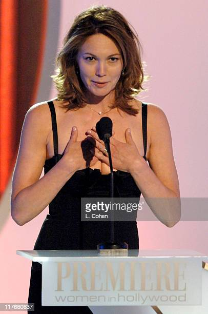 Diane Lane presents the Premiere Icon Award to Shirley MacLaine at the Beverly Hilton Hotel Tonights Festivities called 'AMC Presents Premiere...